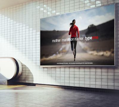 billboard poster mother marathon runner type one