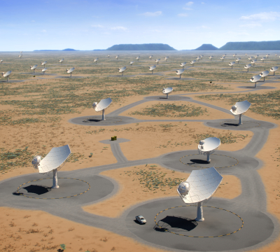 array of radio telescopes
