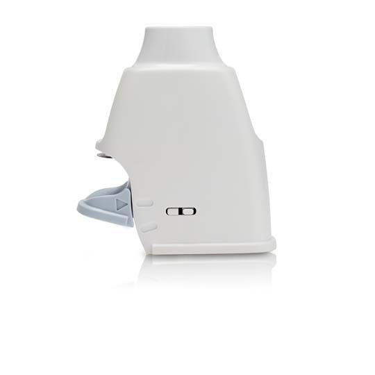 rendering of inhaler and single dose blister pack
