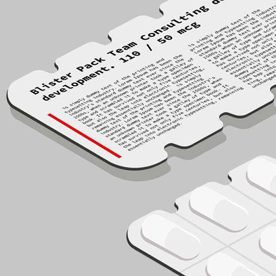 rendering of blister pack design