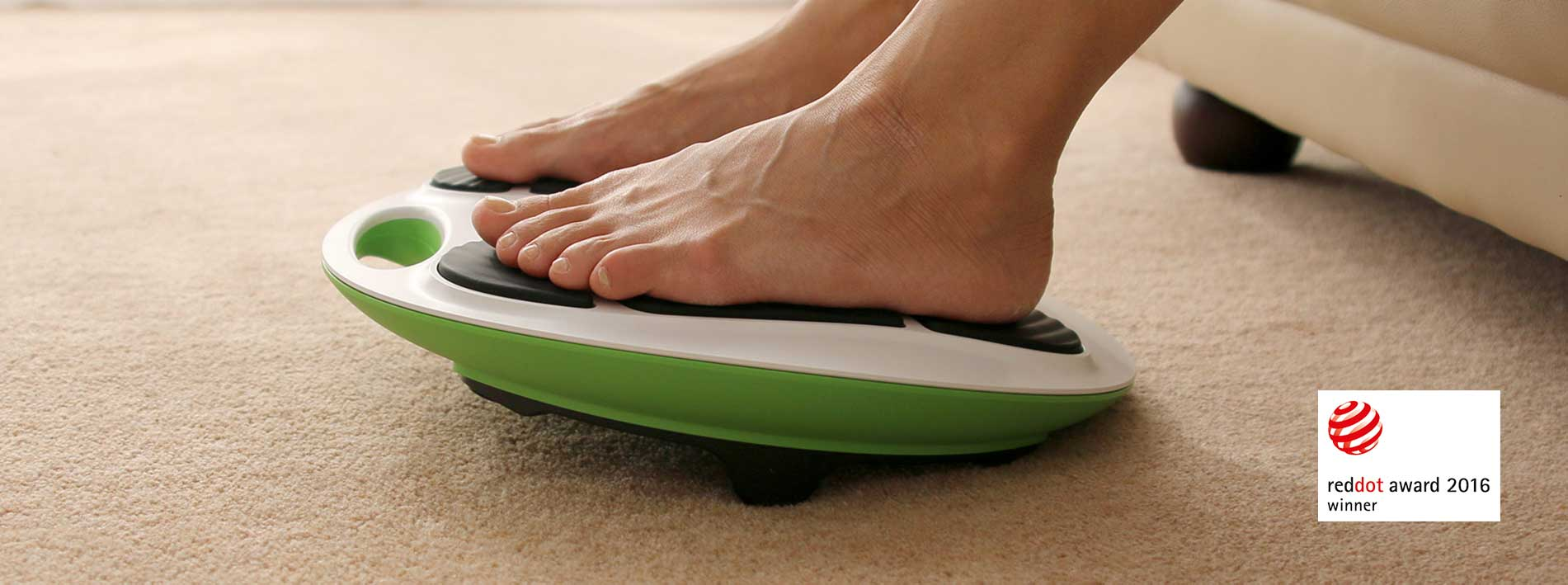 The REVITIVE circulation booster in use