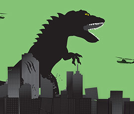 Wound care and the giant mutant space lizard analogy